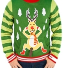 Frisky Rudolph Naughty Sweater
