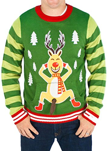 Frisky Rudolph Naughty Sweater | Ugly-Sweaters.com
