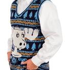 Men's Christmas Vacation Marty Moose Mug Ugly Sweater Vest