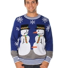 Naughty Snowman Nose Thief Christmas Sweater for Men