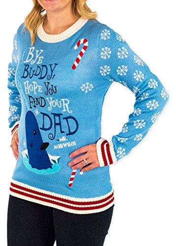 elf holiday narwhal ugly christmas sweater - Buddy The Elf Christmas Sweater