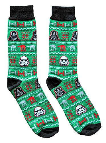 Star Wars Ugly Sweater Pattern Men S Crew Christmas Socks