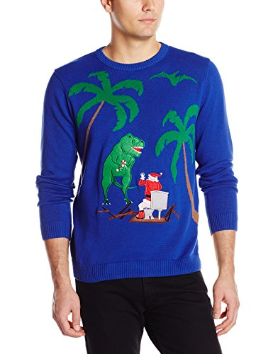 Santa on Toilet and T-Rex Attacks Christmas Sweater | Ugly ...