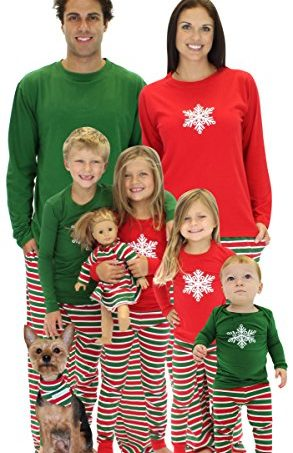 christmas stripes family matching pajamas pjs sets for the family