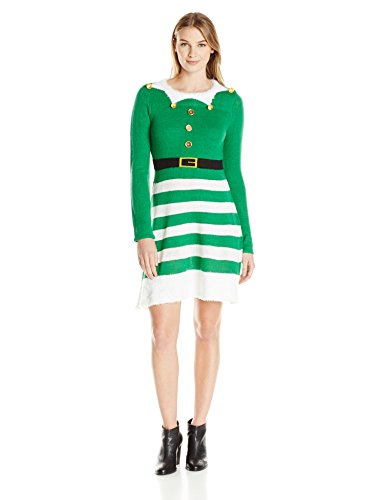 elf dress ugly christmas sweater dress