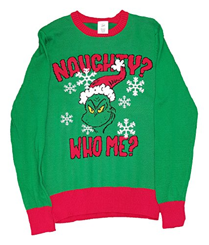 the grinch naughty who me christmas sweater