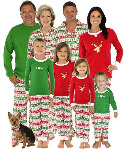 Family Christmas Pajamas Including Dog.Matching Christmas Pajamas For The Family