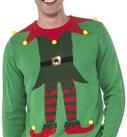 Green Elf Ugly Christmas Sweater