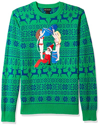 drunk elf on the shelf ugly christmas sweater