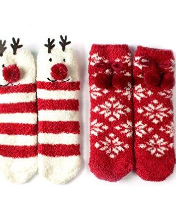 womens animal fuzzy christmas socks - Christmas Socks For Men