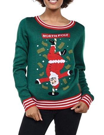 north pole santa stripper ugly christmas sweater - Offensive Ugly Christmas Sweater