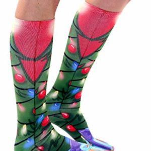 2cd4f84a32a Shiny Christmas Tree Knee High Socks