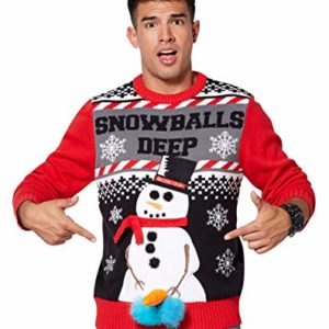 0a895c850 Snowballs Deep Light Up Naughty Christmas Sweater
