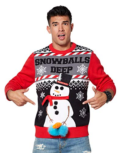 Big And Tall Ugly Christmas Sweater.Naughty Offensive Inappropriate Christmas Sweaters