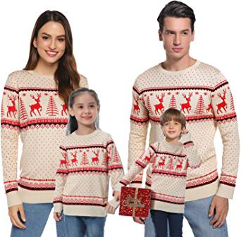 Best Matching Christmas Sweaters For Family Couples